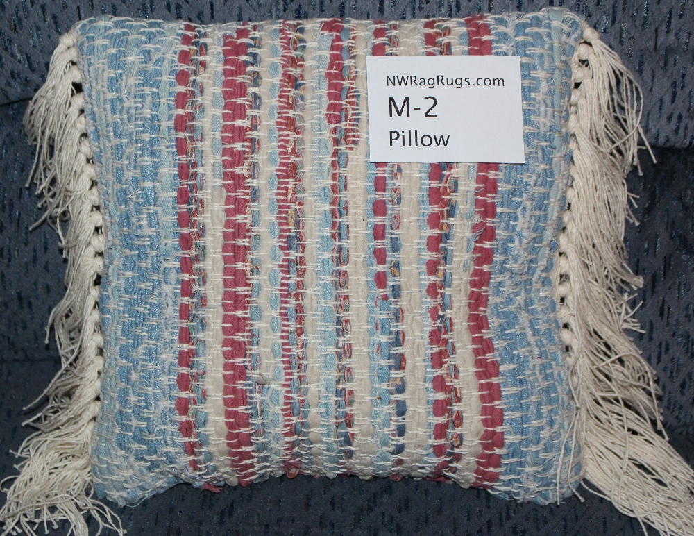 Misc #M-2 Pillow. Main colors: Red, White & Blue