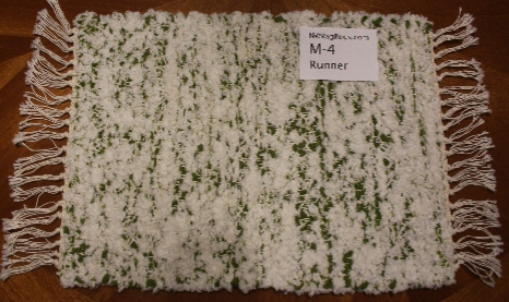 Misc #M-4. Table Runner. Main colors:White w/Green