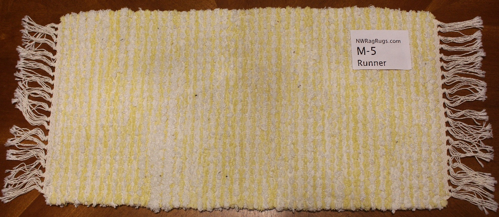 Misc #M-5 Table Runner. Main colors: Yellow & White