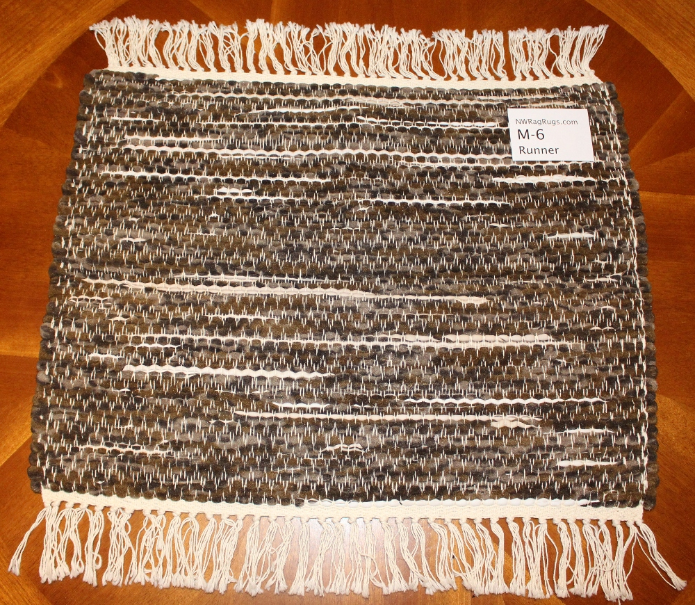 Misc #M-6 Table Runner. Main colors: Brown