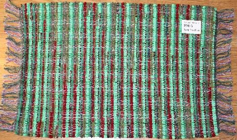 Rag-Medium #RM-6. Main colors: Bright Green w/Red & Multi