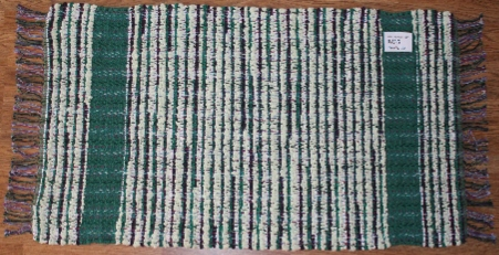 Rag-Wide #RW-5. Main colors: Green & Brown w/2 Green Stripes